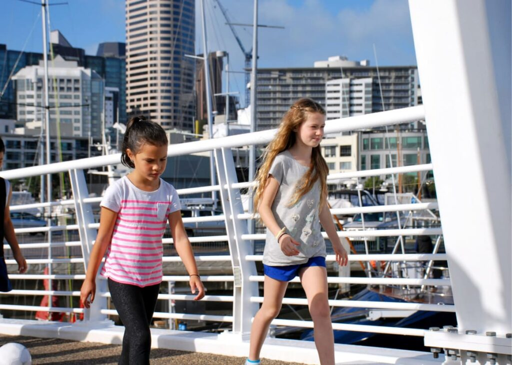 Two kids in New Zealand