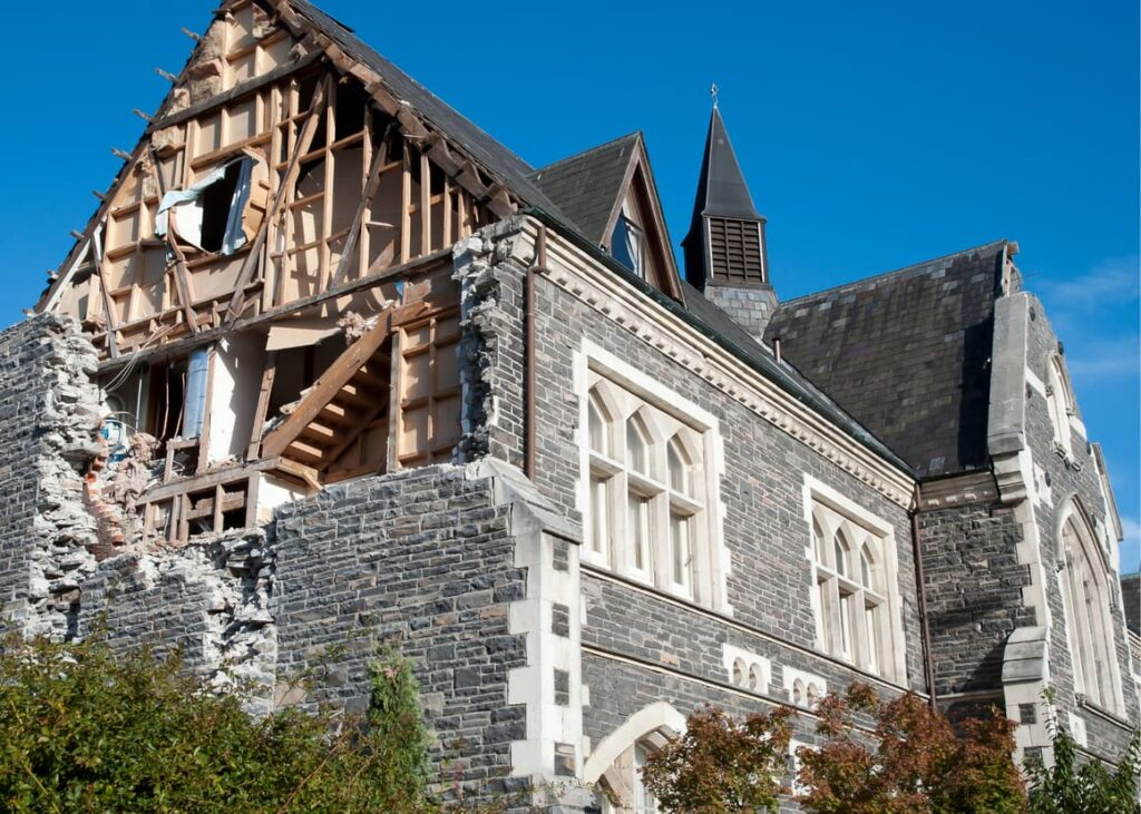 Earthquake damage in Christchurch, New Zealand. Scary things that happen.