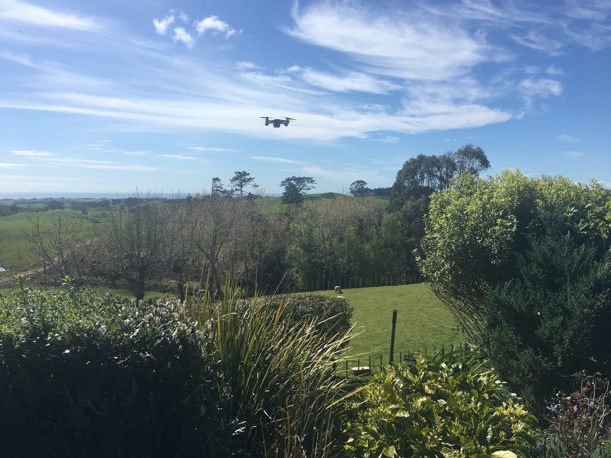 A travel drone DJI Spark.