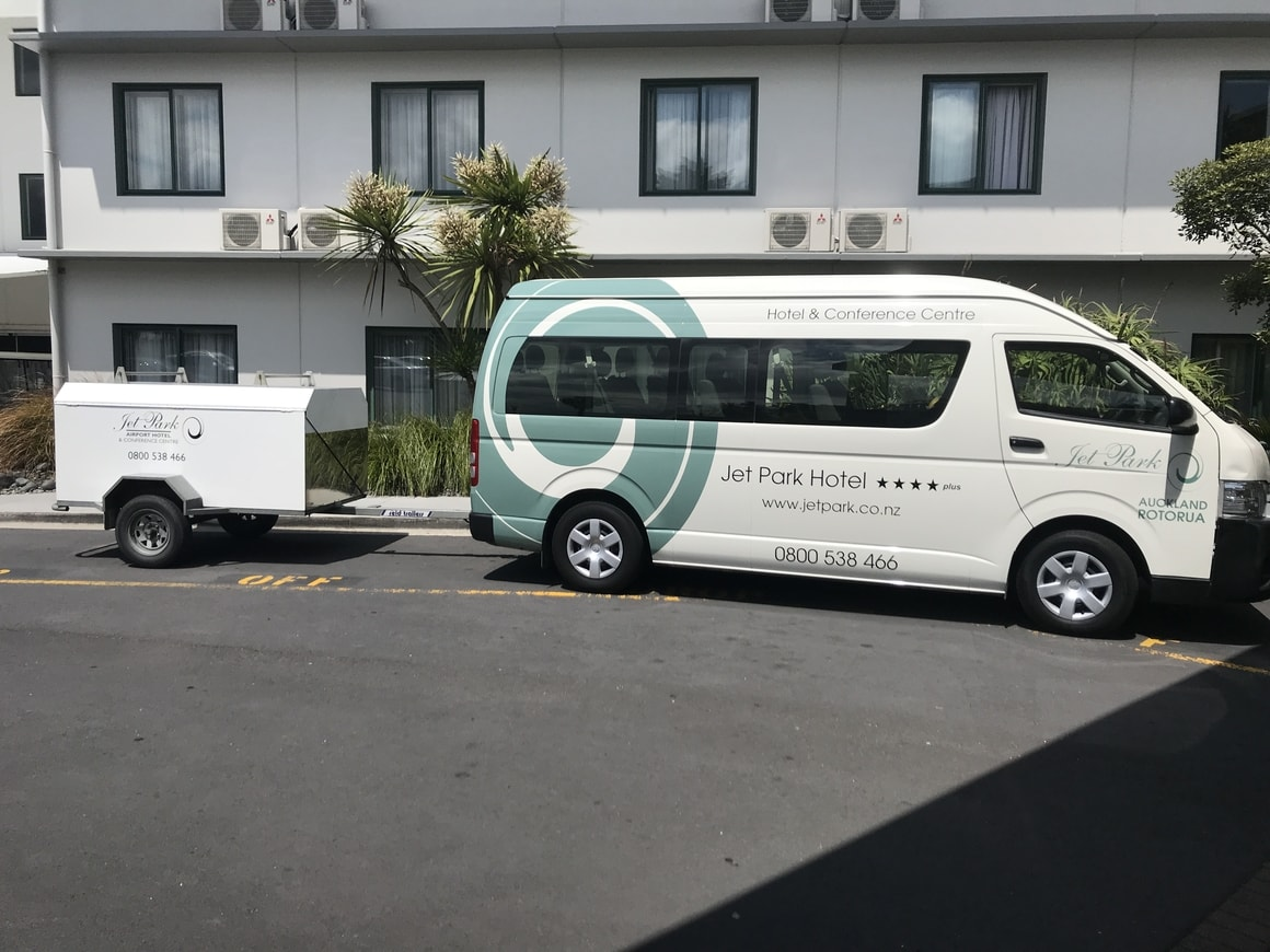 A Shuttle at the hotel to catch a flight to LAX where you will get a layover