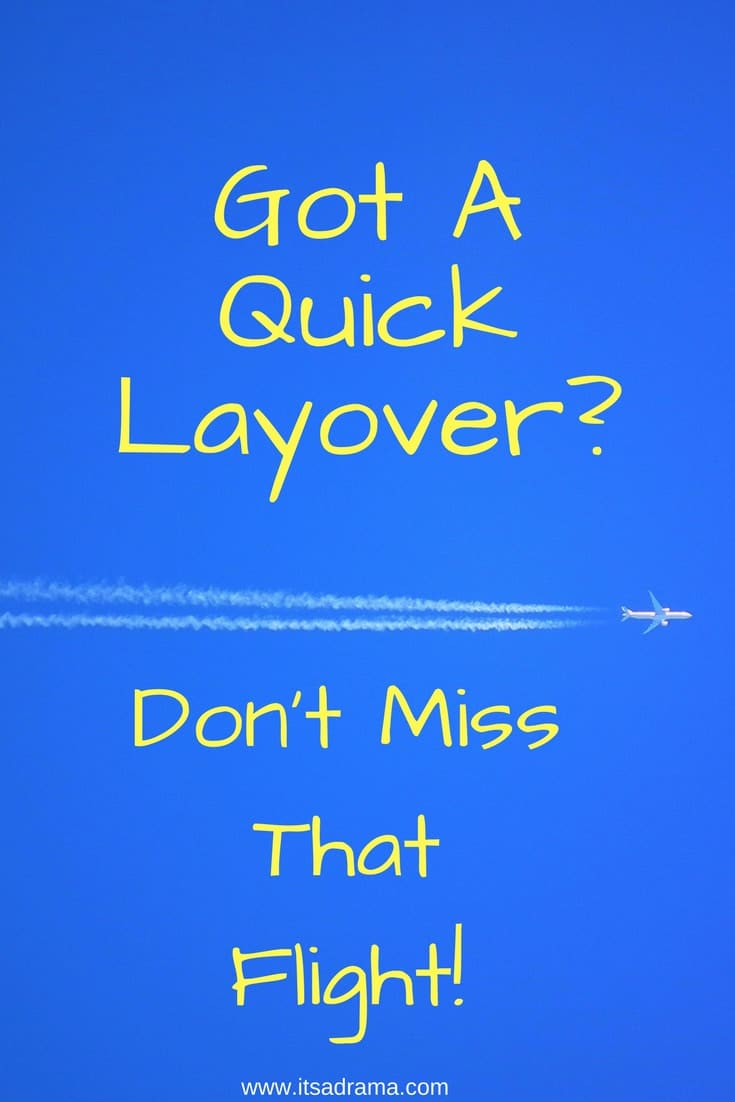 A travel blog explaing how a quick layover flight works.