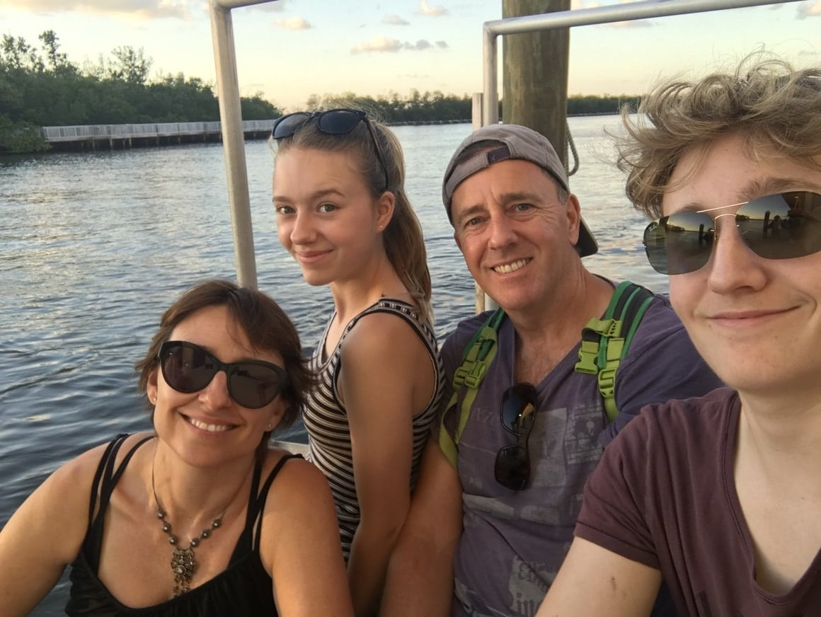 A happy family take the Fort Lauderdale tours on the water taxi. All on budget and happy!