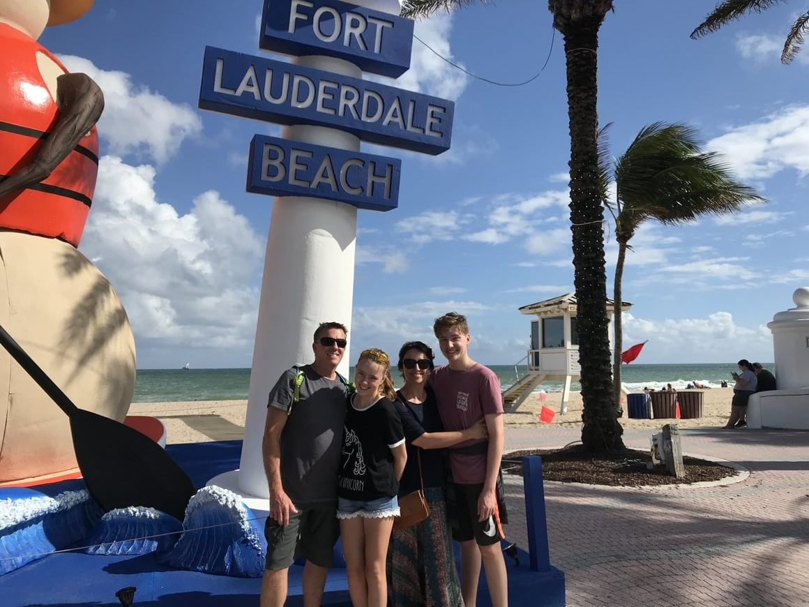 A family in Ft Laudrdale. Ft Lauderdale water taxi