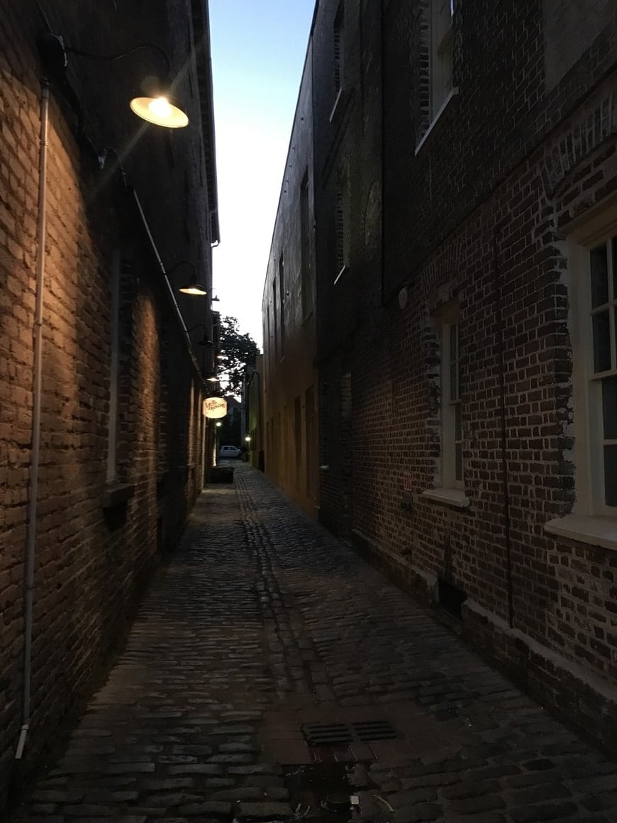 A walking ghost tour is one of the many things to do in Charleston at night.