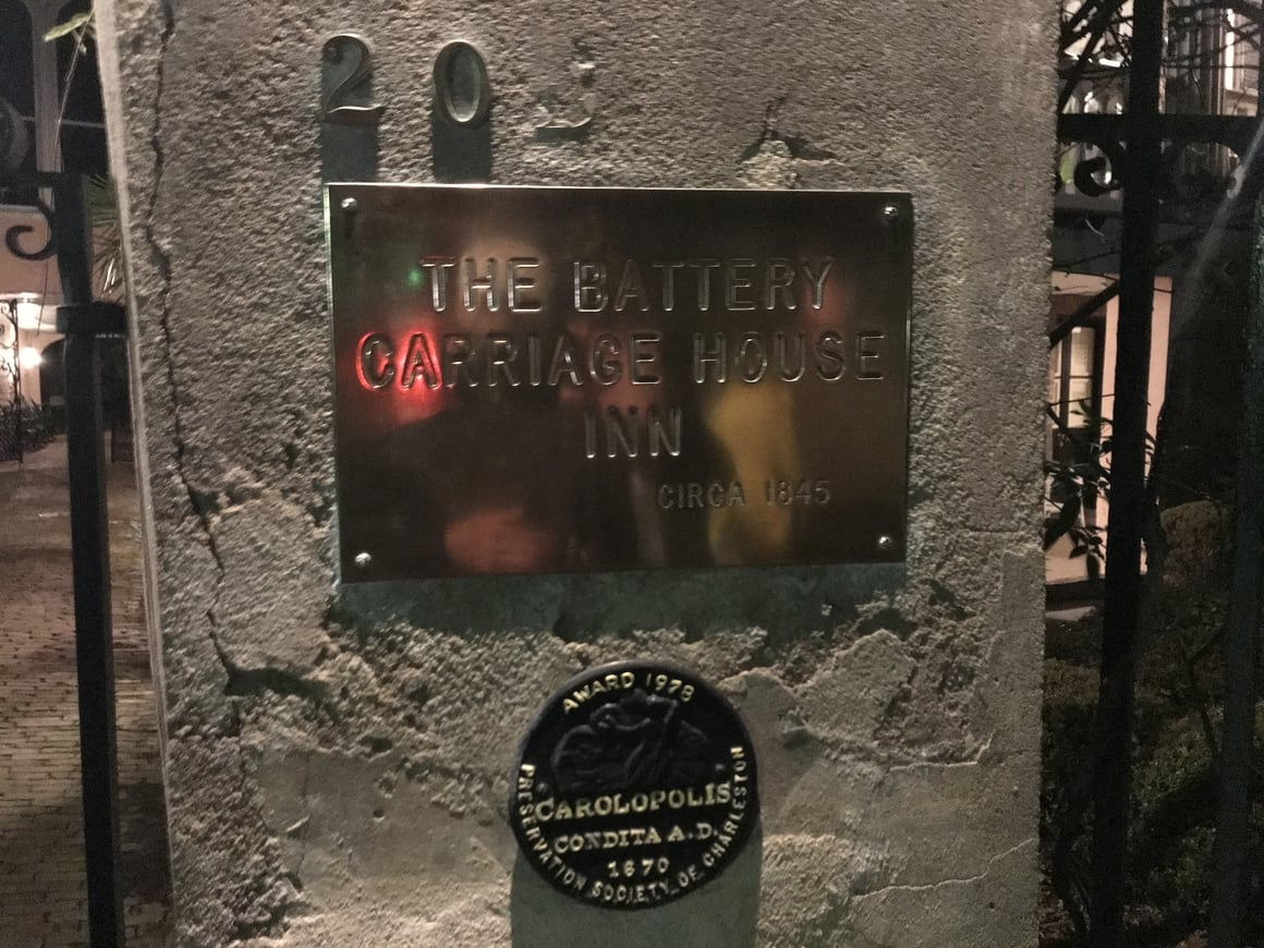 The most haunted hotel in Charleston SC. Go and see it at night!