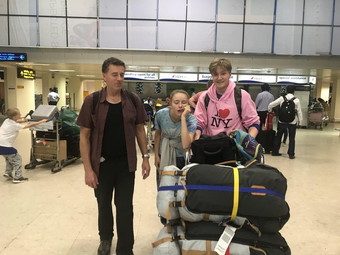Sri Lanka travel blog. Arriving at Colombo airport and how we felt.