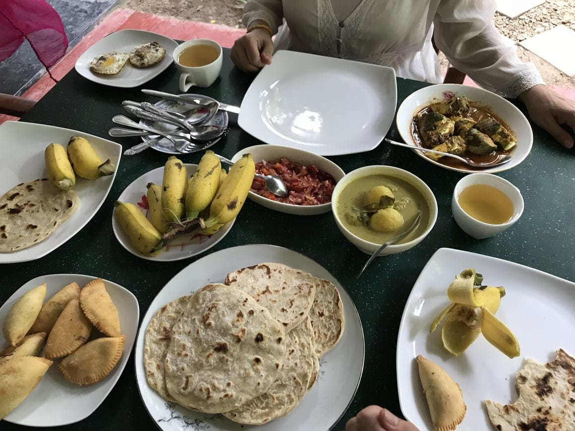 A breakfast in Sri Lanka will cost you about $3 a person