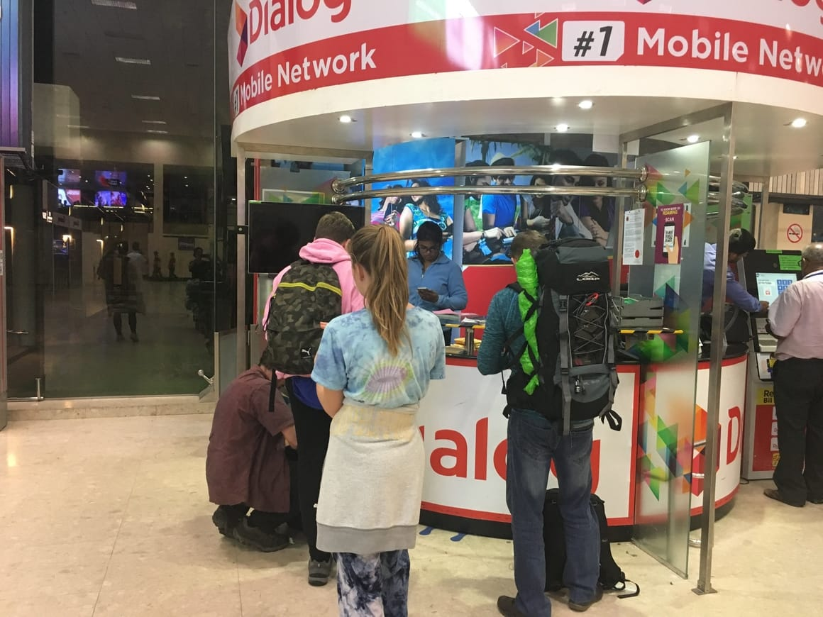 Buying a sim card at Colombo airport in Sri lanka