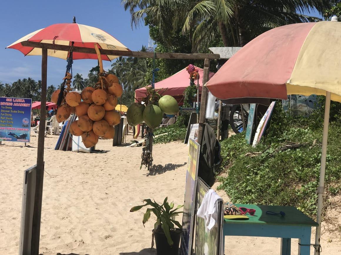 Sri Lanka travel blog. Mirissa beach