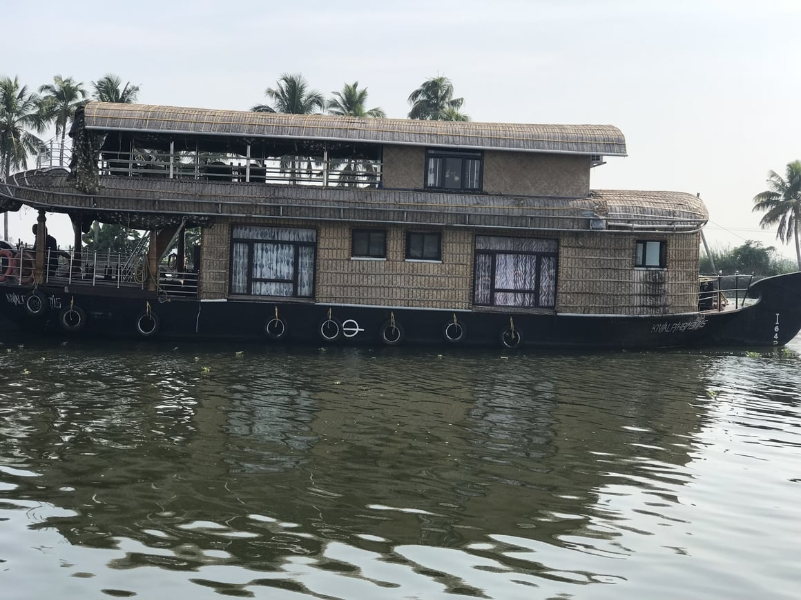 The Alleppey houseboat on the backwaters