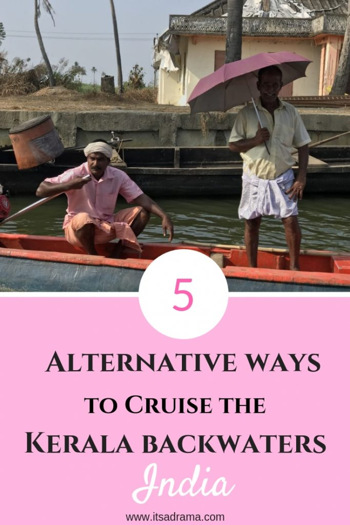 cruising the Kerala backwaters in Alleppey