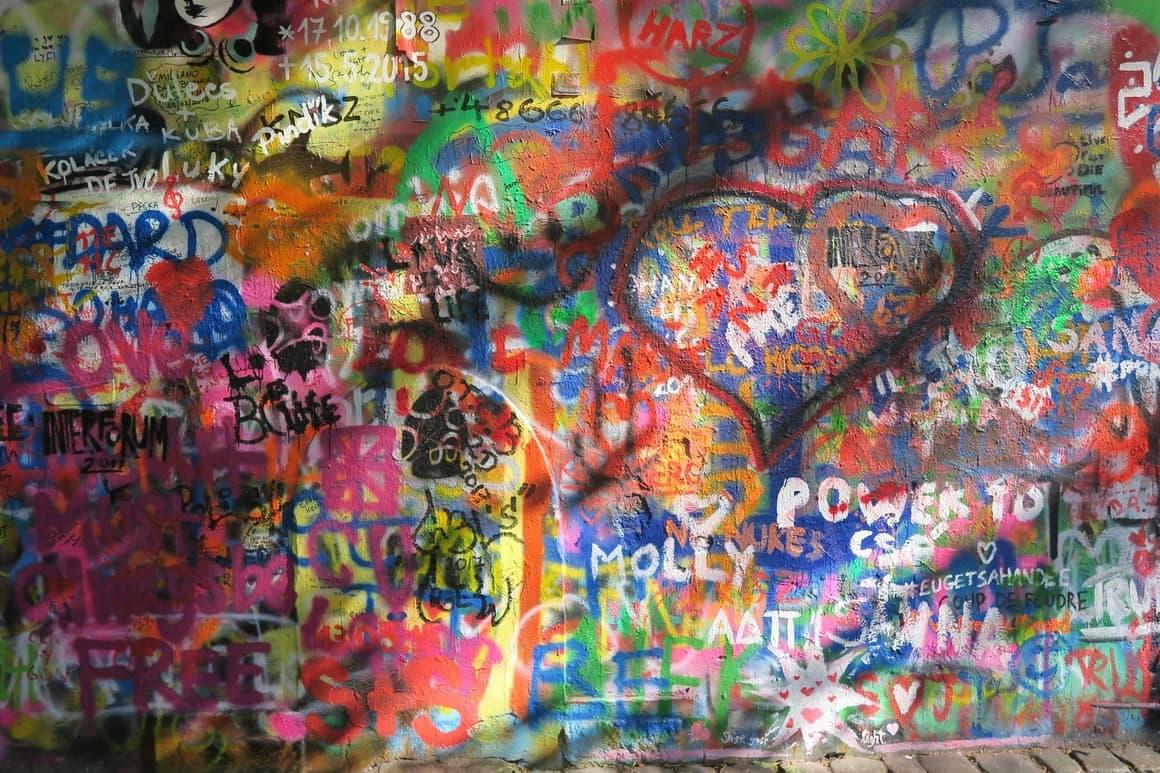 Lennon wall Prague. best European city for kids