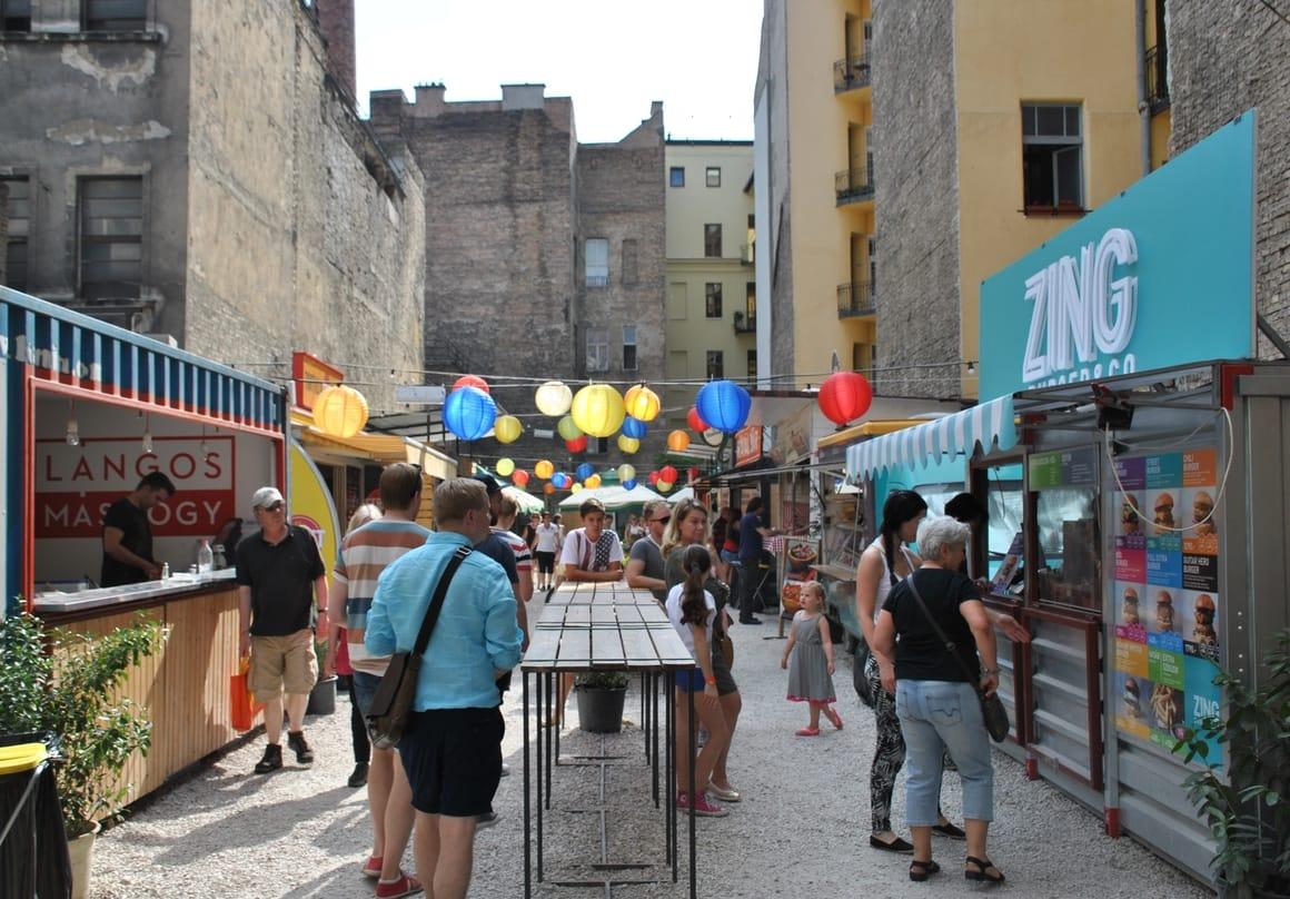 Market in Budapest. Best European city for kids