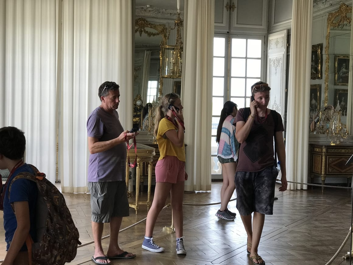 The inside of Versailles Palace in Paris. The best place to take kids on a day trip to Paris