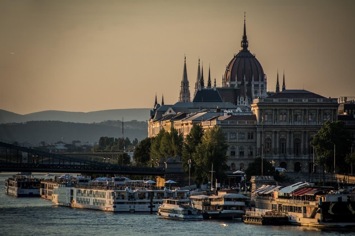 Budapest at dusk. The best European city for kids