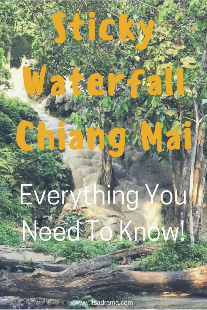 A travel blog about the sticky waterfalls in Chiang Mai Thailand