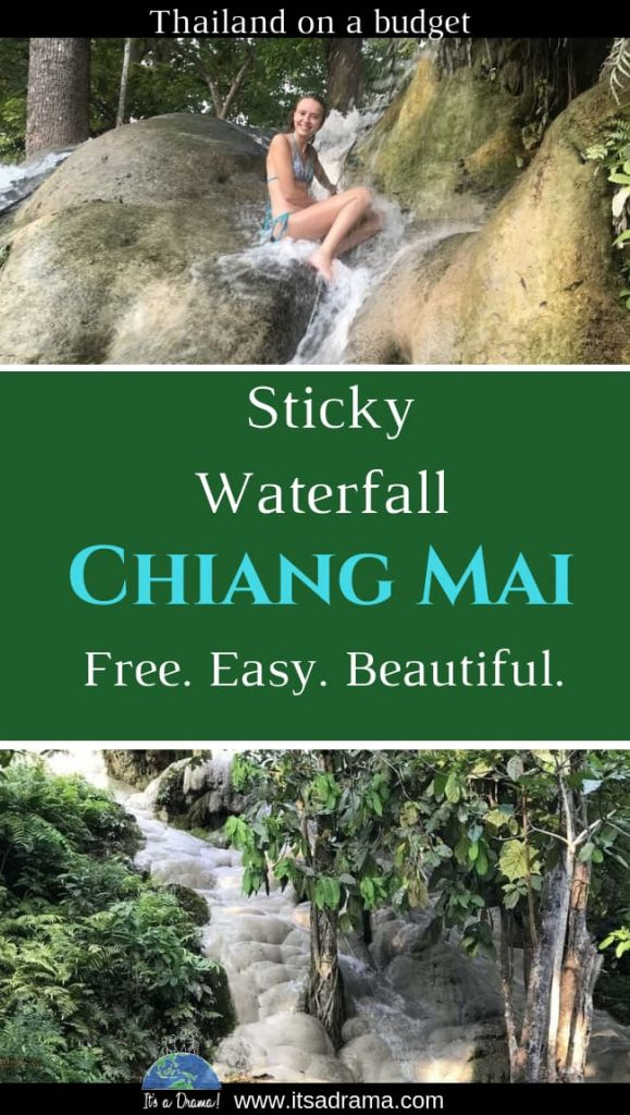 visiting the beautiful waterfalls in Chiang Mai Thailand