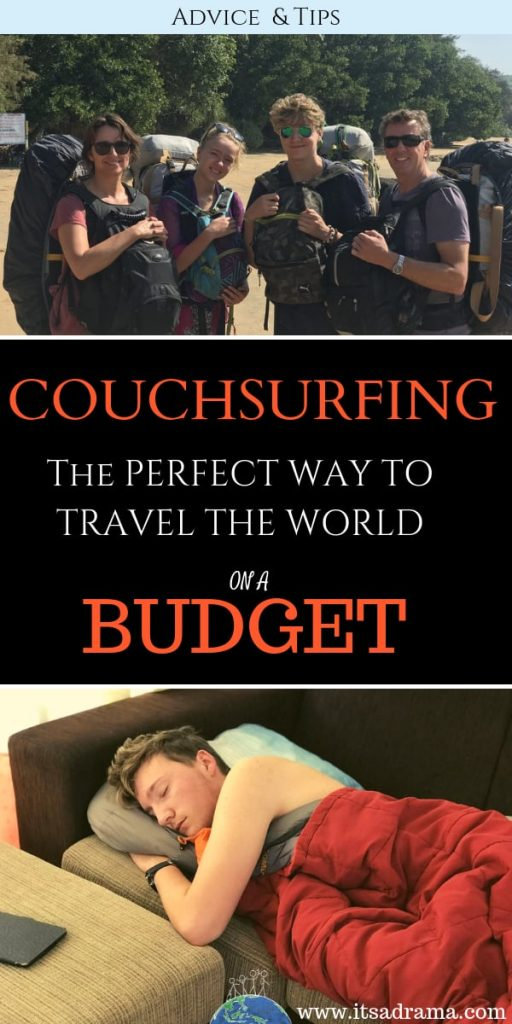 Couchsurfing review. travel the world on budget Pinterest