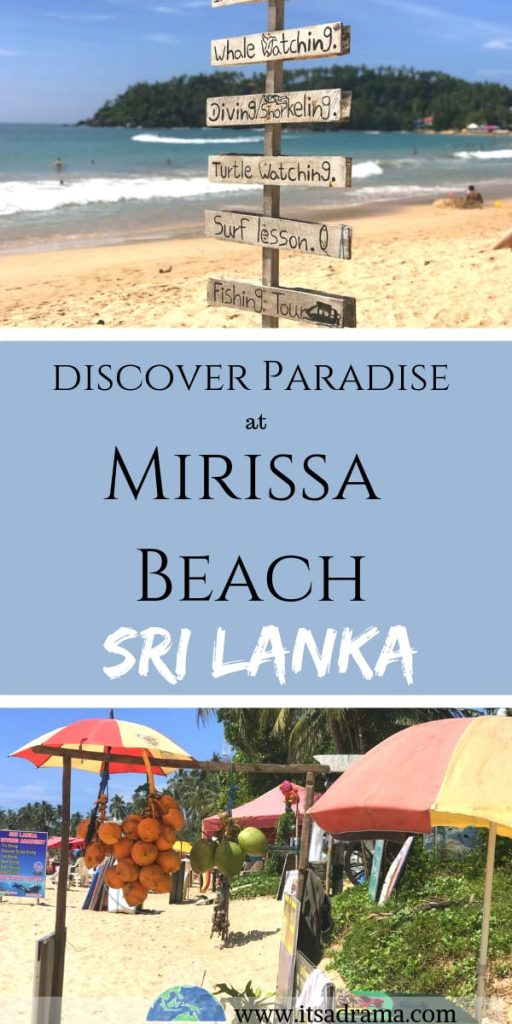 Mirissa beach is paradise in Sri Lanka