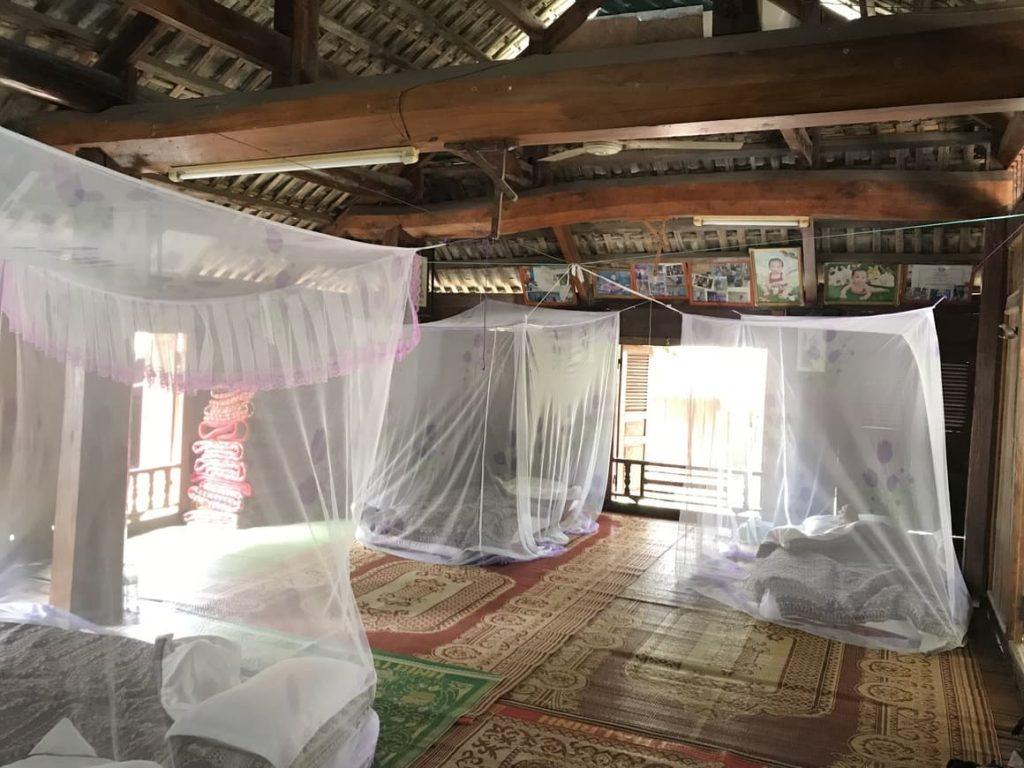 The Thai stilt house in Mai Chau