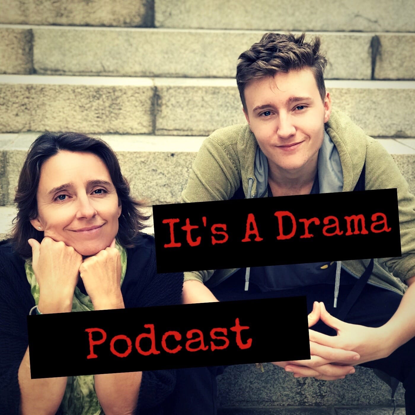 A parenting podcast with a mother and her teenage kids talking about issues