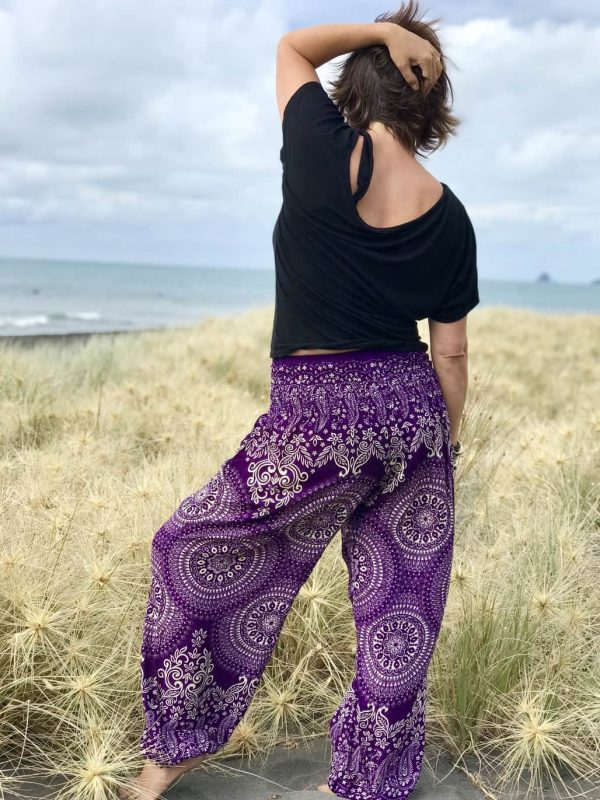harem pants purple pattern comfortable