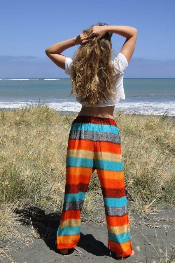 harem pants rainbow colour. Baggy Aladdin style yoga pants