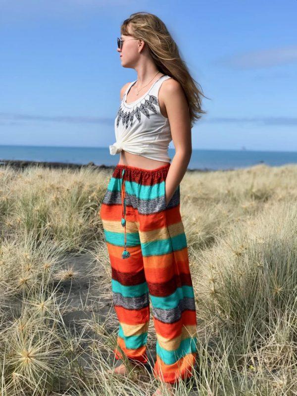 Harem pants rainbow pattern  yoga pants