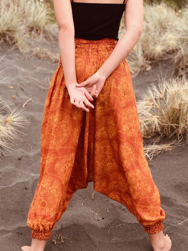 Burnt orange coloured harem pants | Yoga pants | soft comfy 100 % cotton