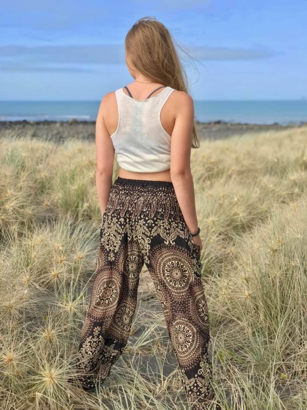 Black & white pattern harem pants
