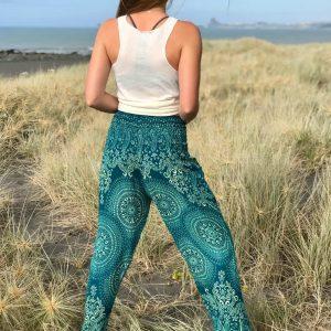 bohemian harem pants turquoise