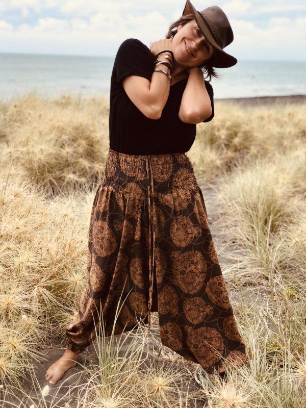 Brown harem pants|yoga pants|maternity pants