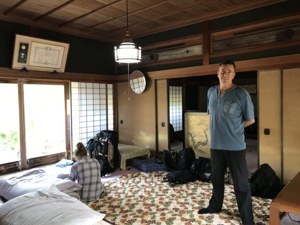 backpacking in Japan a room with futons