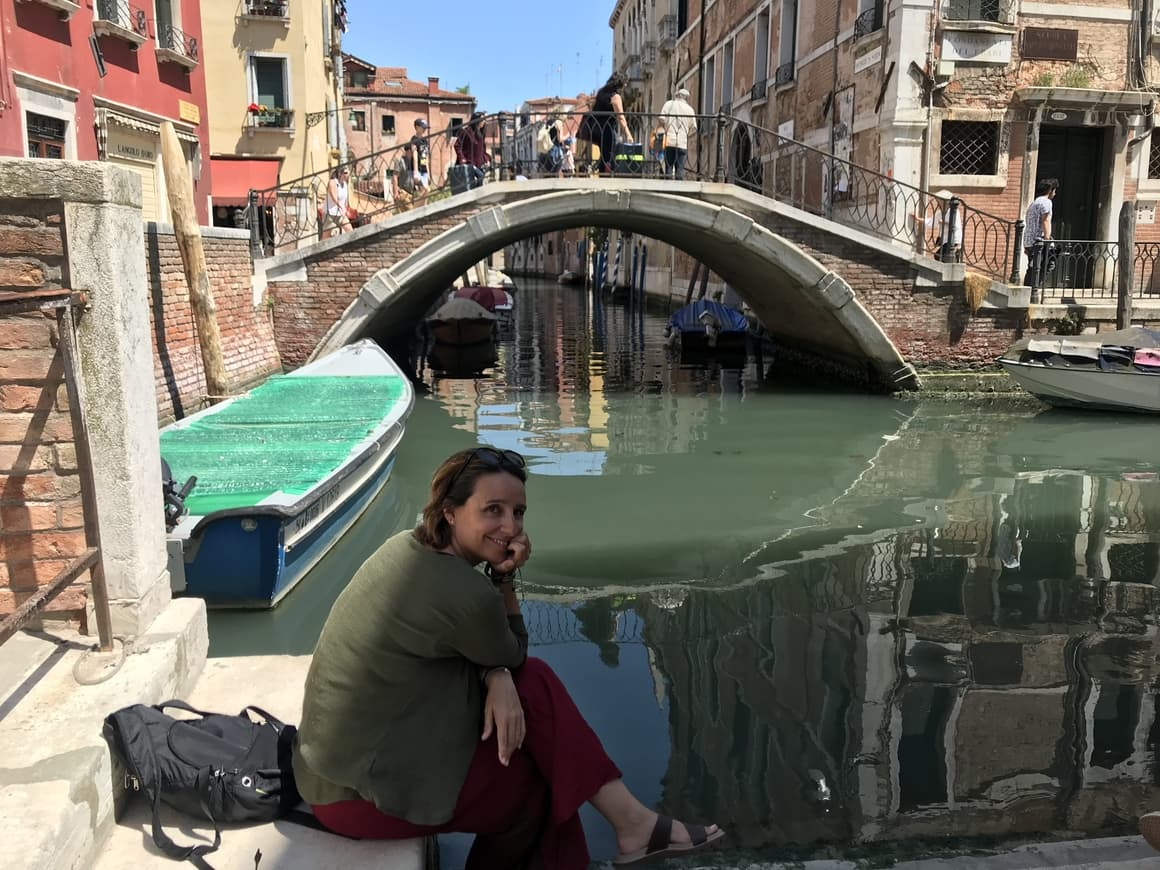 A woman in Venice. Italy tips on how to enjoy Venice on a budget
