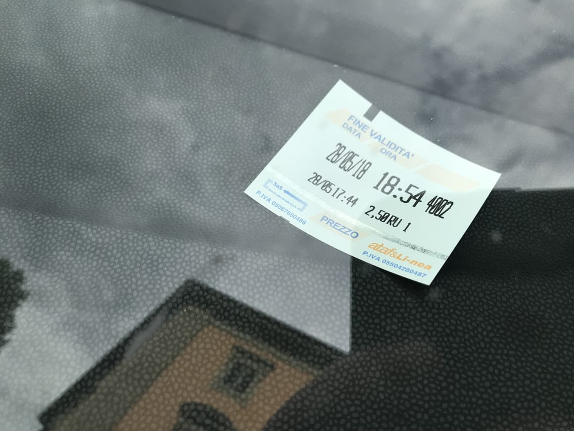 Car ticket in Italy. Italy tips on how not to be scammed at the carpark