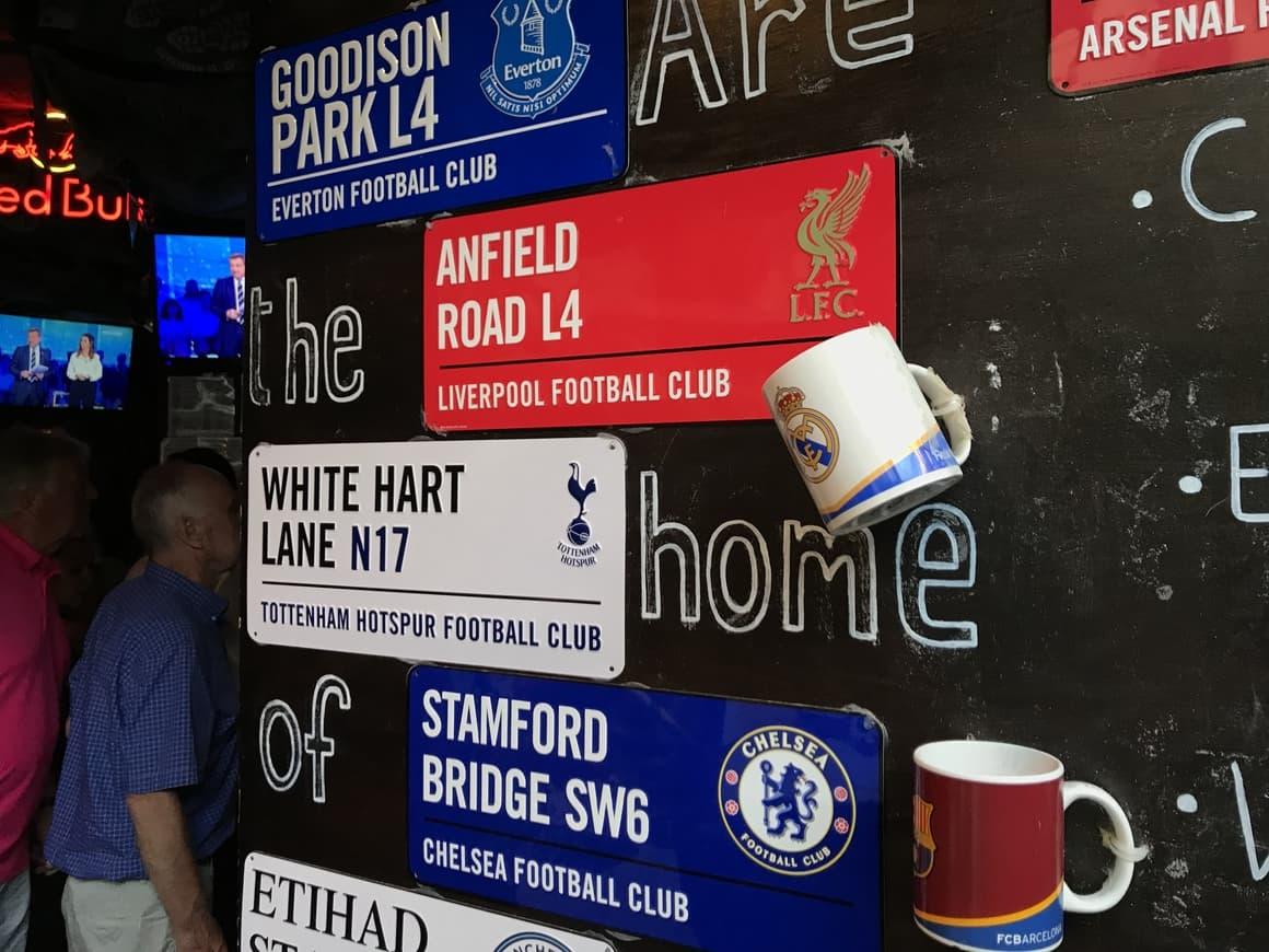 Football bars in Italy. Italy tips for travel