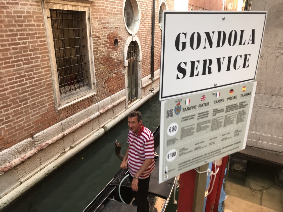 A gondola in Venice. Italy tips on what to do in Venice