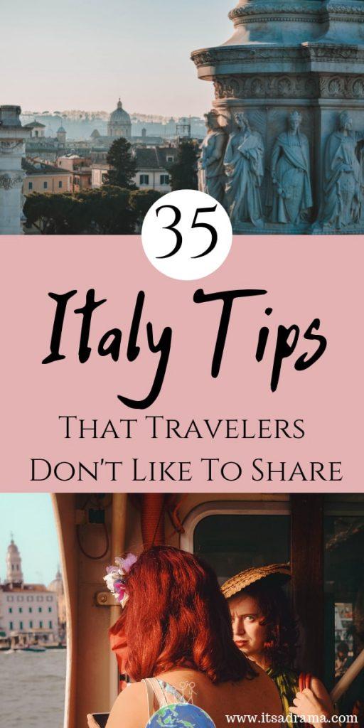 Italy travel tips for Pinterest