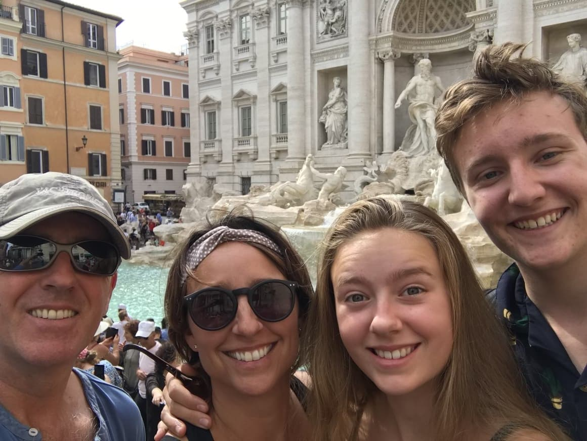 The Trevi fountain. Taking Kids to Italy. Italy tips