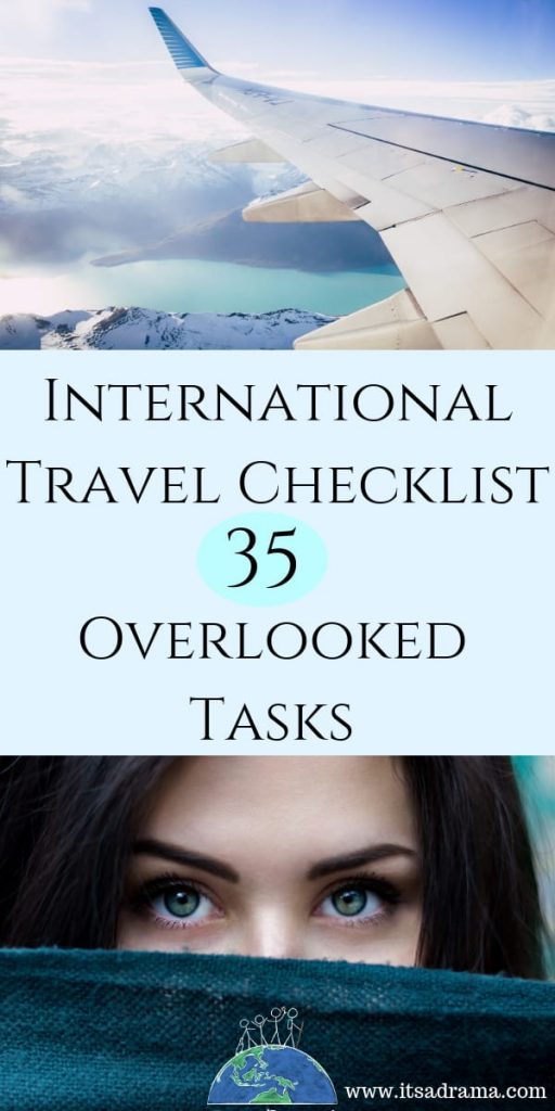 International travel checklist. 35 Awesome tips to remember before traveling