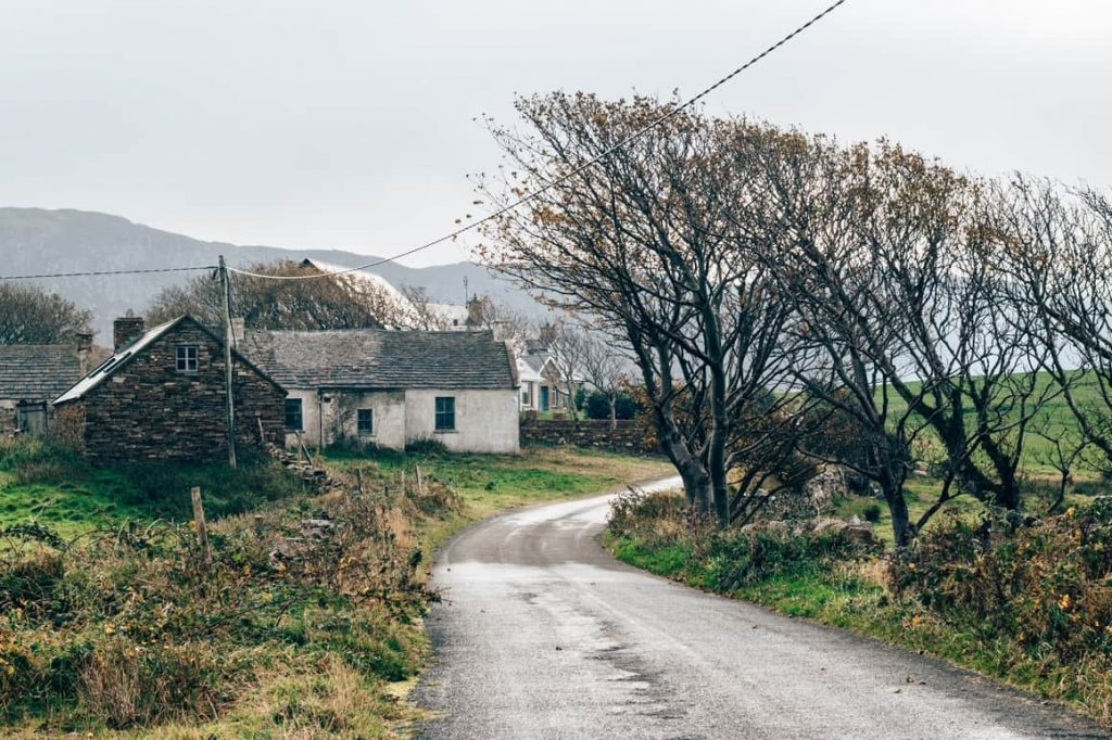a house on a lane in Ireland