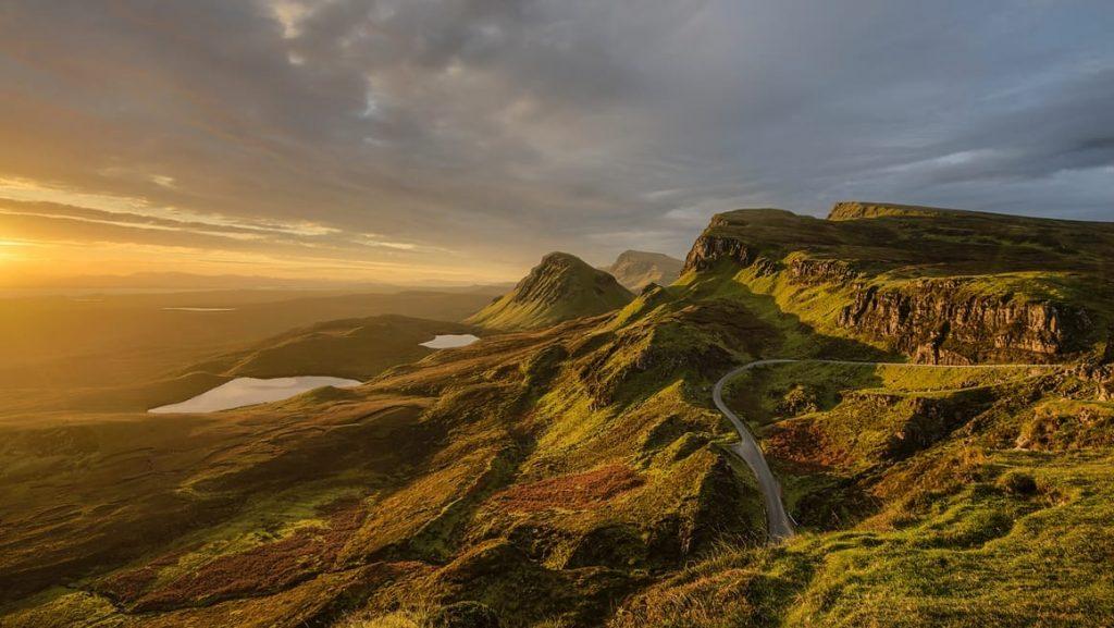 Irish countryside and hills. Travel Ireland tips