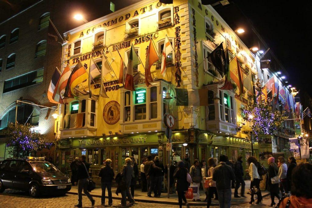A busy corner pub in Dublin. Ireland