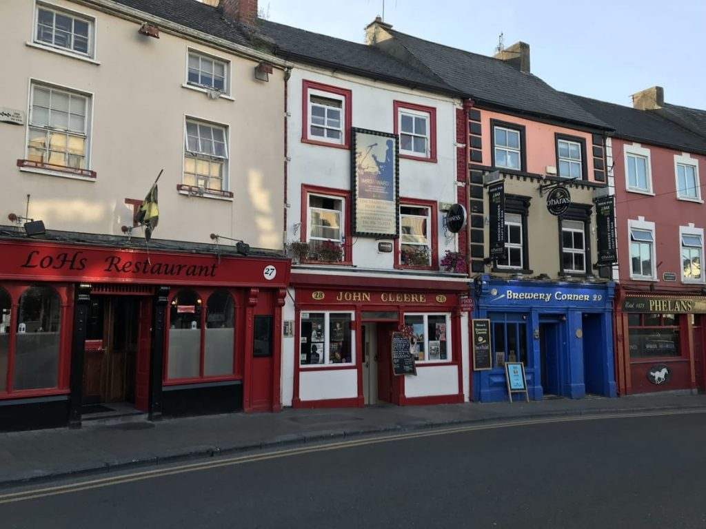 Street full of Pubs in Ireland. Ireland tips on what to expect the first time you visit