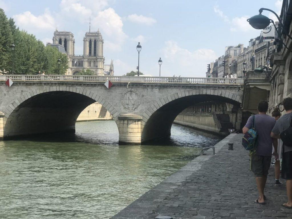 Paris. The walkway along the river Seine