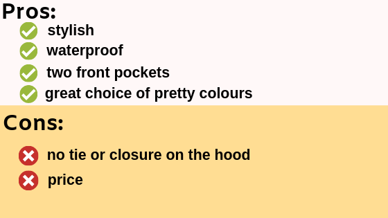 pros and cons of the best rain poncho
