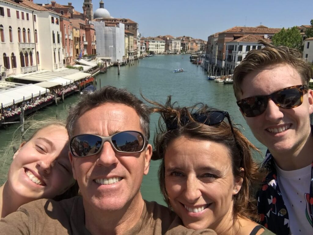 family in Venice