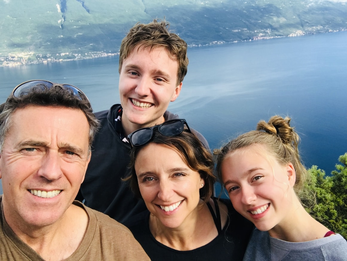 family smiling.Homeschooling around the world