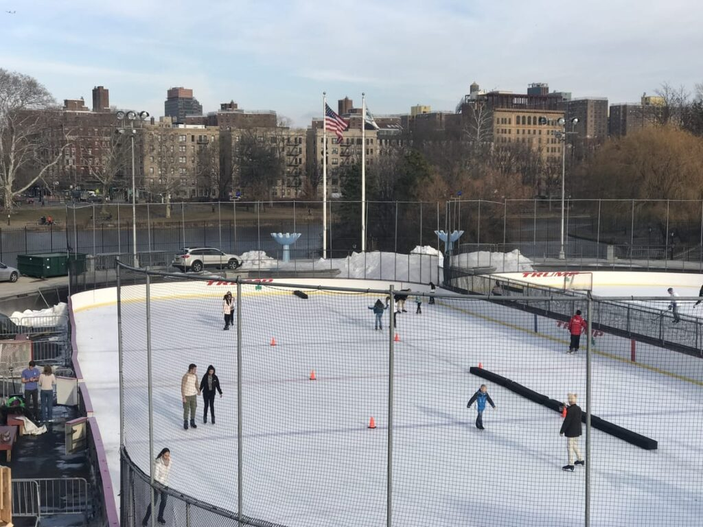 Ice skating in NYC at Christmas time