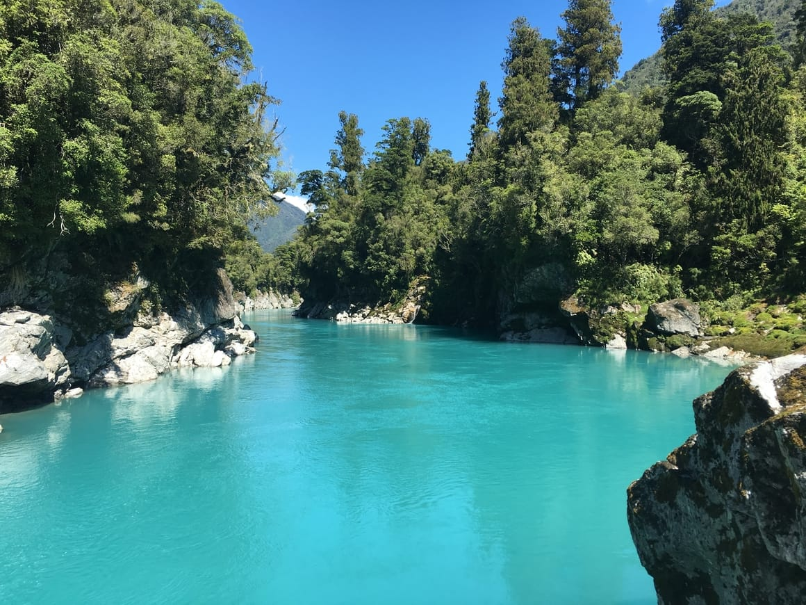 Blue water in new Zealand